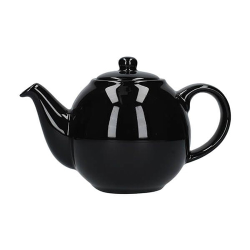 London Pottery 4 Cup Globe Teapot - Gloss Black