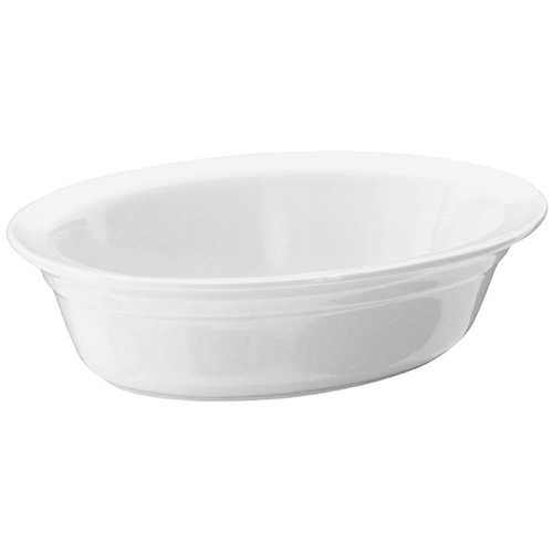 Judge Oval Pie Dish - White Porcelain 24cm