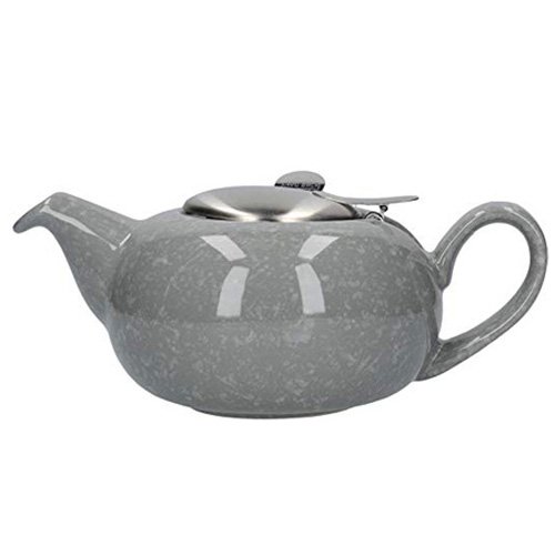 London Pottery 4 Cup Pebble Teapot - Gloss Flecked Grey