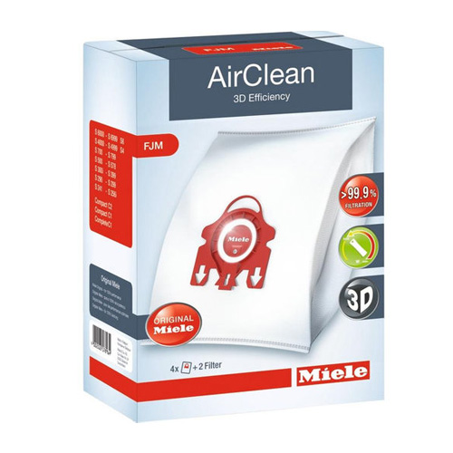Miele HyClean FJM Vacuum Cleaner Bags (Pack of 4 Plus 2 x Filters)