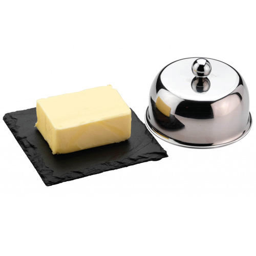 Grunwerg Butter Cloche Set - Slate base