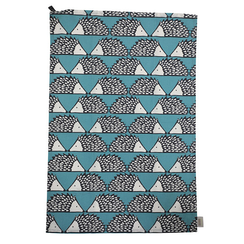 Dexam Scion Cotton Tea Towel - Teal Spike - Pack of 2