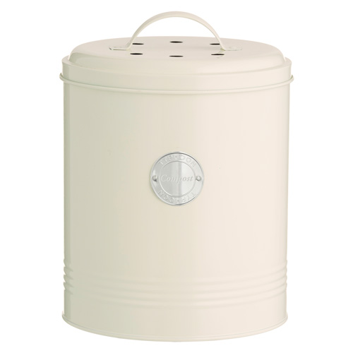 Typhoon Living Compost Caddy - Cream