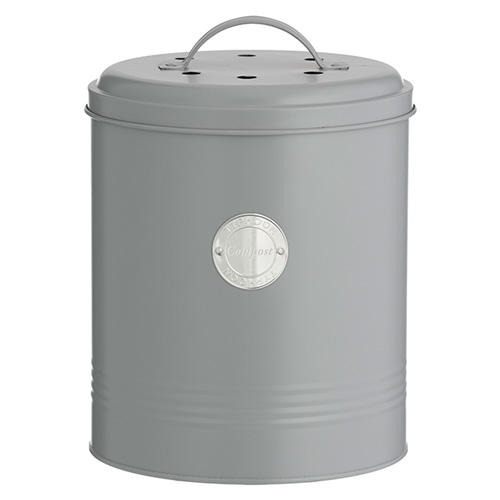 Typhoon Living Compost Caddy - Grey