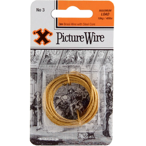 X Picture Wire No 3 - Maximum Load 18kg