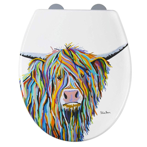 Croydex Angus McCoo Toilet Seat - Always Fits - Never Slips