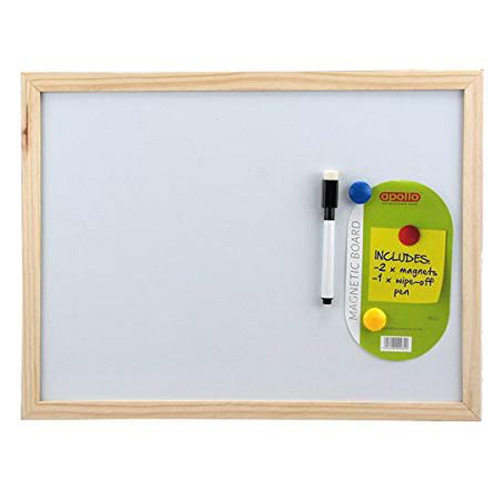 Apollo Magnetic Memo White Board with Wipe Off Pen