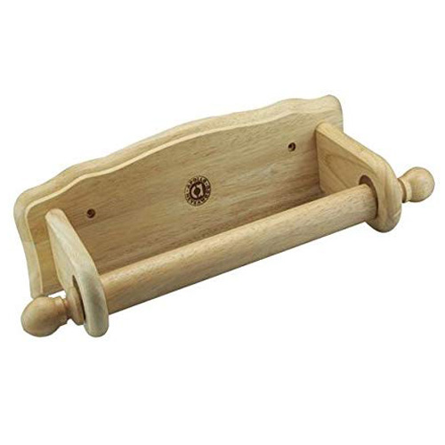 Apollo Wall Towel Holder - Hevea Wood