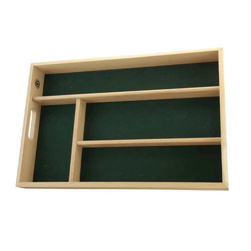 Apollo Cutlery Tray Drawer Organiser - Lined Beech Wood