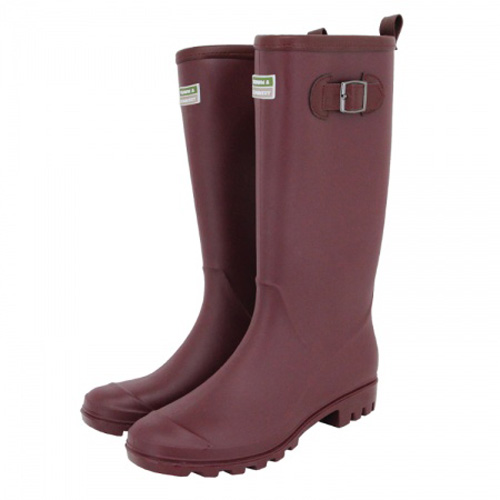 Town and Country Burford Wellington Boot Aubergine - Size 4