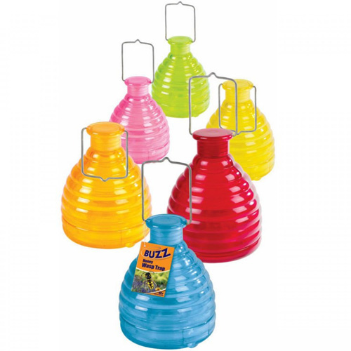 Buzz Honeypot Wasp Trap with Free Refill (Assorted Colours)