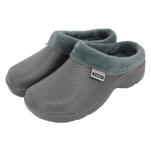 Town and Country Fleecy Cloggies Charcoal size 9