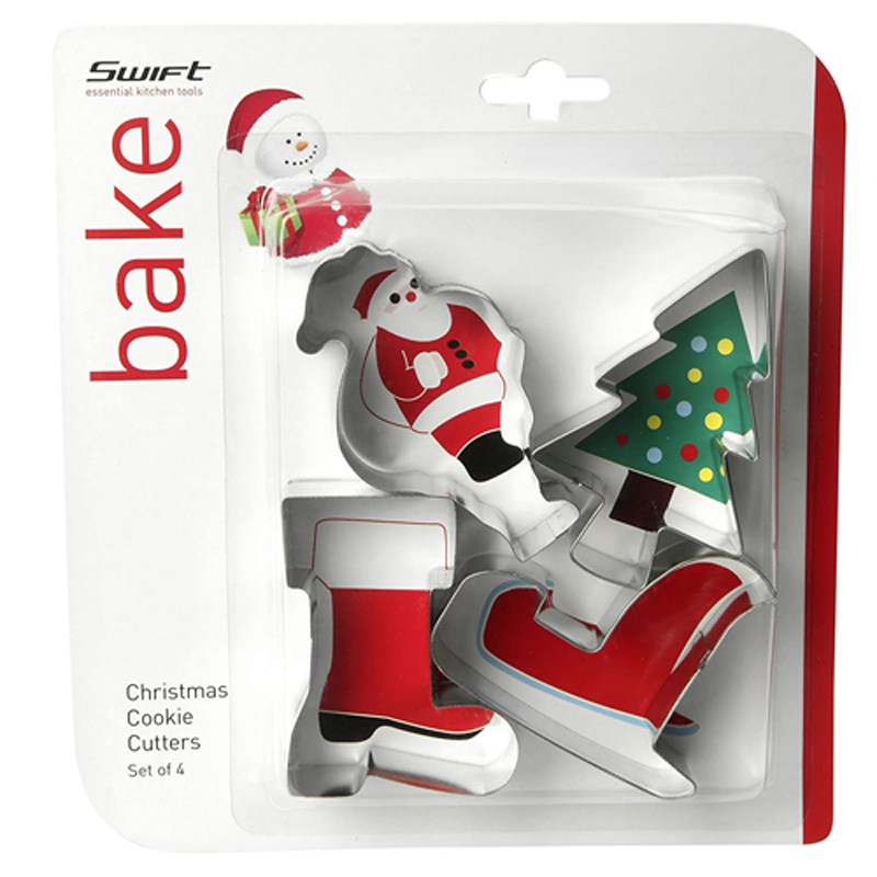 Swift Make and Bake Christmas Cookie Cutter Set 4 Piece