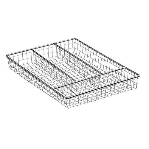 Apollo Cutlery Tray Drawer Organiser - Chrome