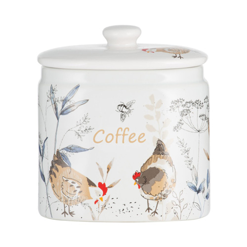 Price and Kensington Coffee Jar - Country Hens