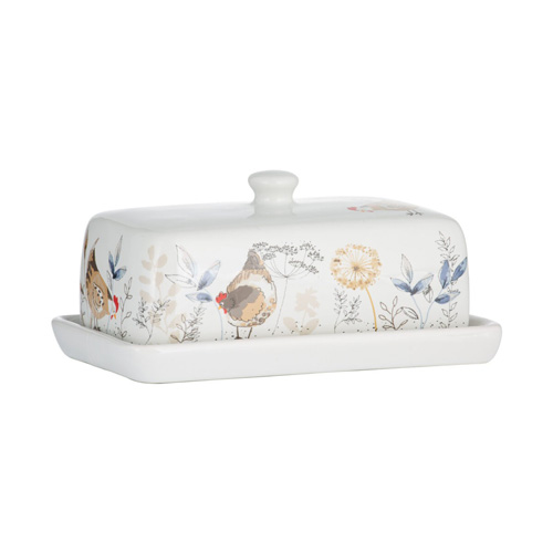 Price and Kensington Butter Dish - Country Hens