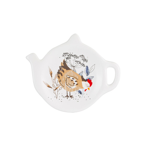 Price and Kensington Ceramic Teabag Tidy, Country Hens