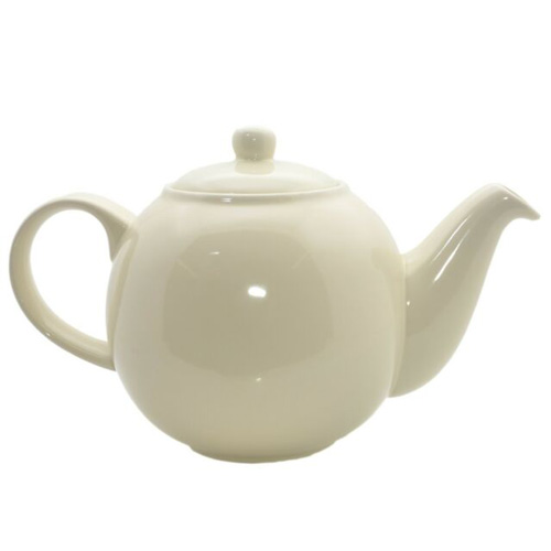 London Pottery 2 Cup Globe Teapot - Cream