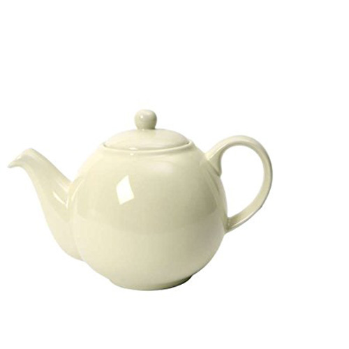 London Pottery 4 Cup Ivory Globe Teapot