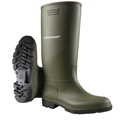 Dunlop Pricemaster Green Wellington Boot Adult Size 10 / 44