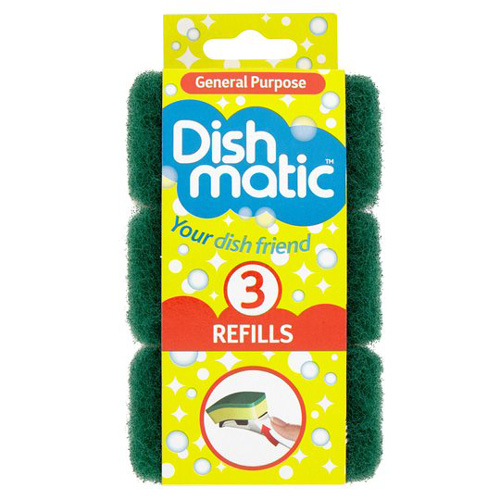 Dish Matic Scourer Replacement Heads - Pack of 3