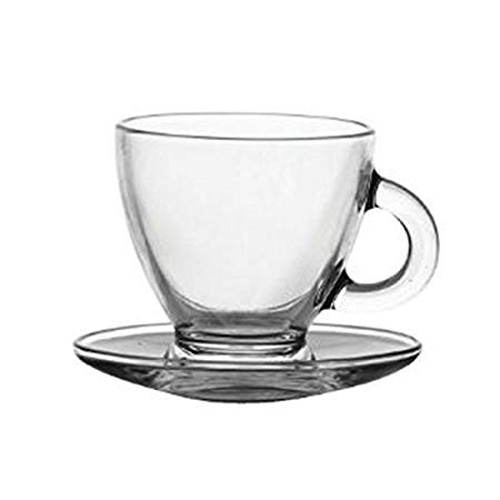 Ravenhead Cappuccino Cups and Saucers - Pack of 2 - 20cl