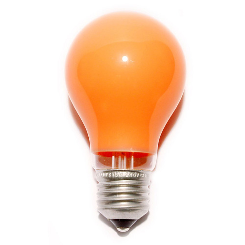 25W 240V ES Coloured Light Bulb - Amber