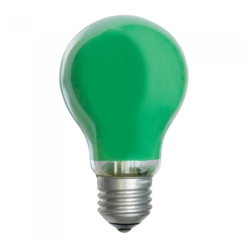 25W 240V ES Coloured Light Bulb - Green
