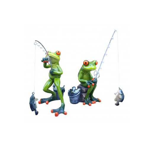 Aljec Green Frogs Fishing - Set of 2