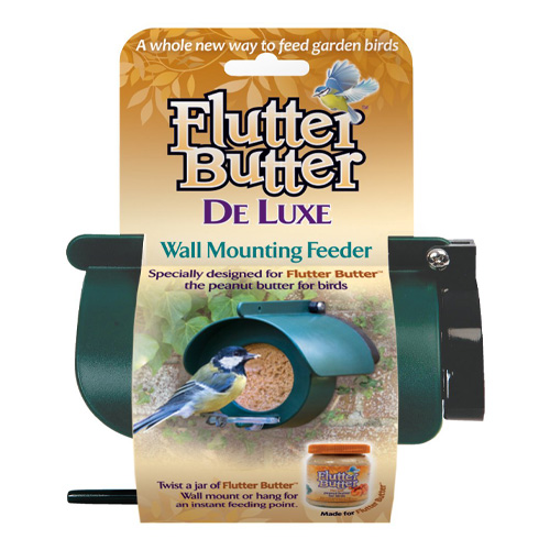Jacobi Jayne Flutter Butter DeLuxe Wall Mounted Bird Feeder
