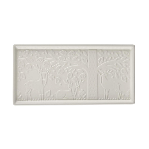 Mason Cash In The Forest Med Serving Tray - Cream,