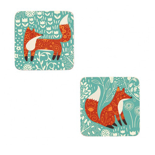 Ulster Weavers Coasters - Pack of 4 - Foraging Fox