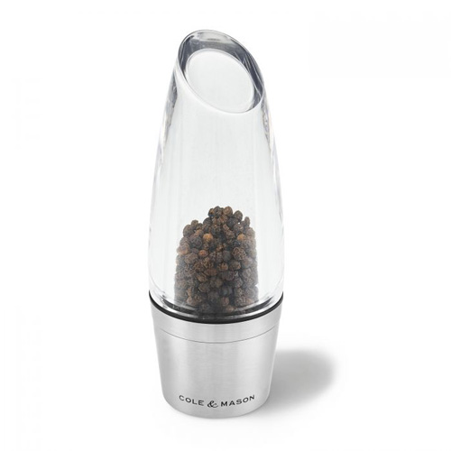 Cole and Mason Milston Pepper Mill Acrylic / Stainless Steel 160mm