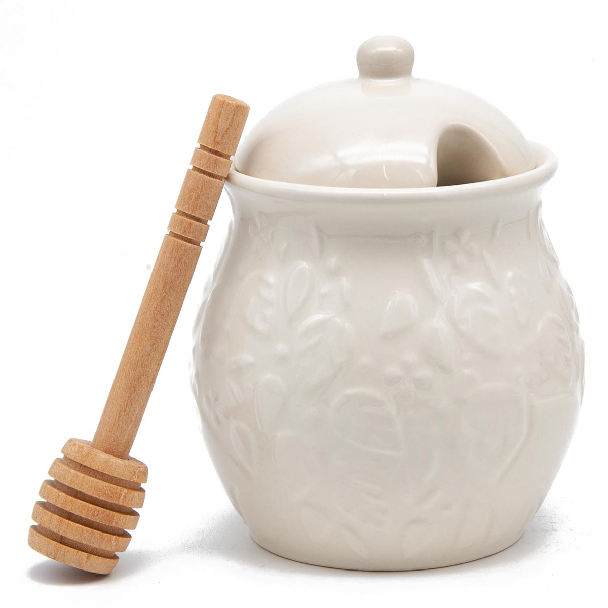 Mason Cash In The Forest Honey Pot with Wooden Dipper