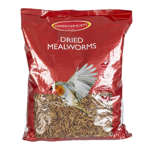 Johnson and Jeff Wild Bird Dried Mealworms - 1kg