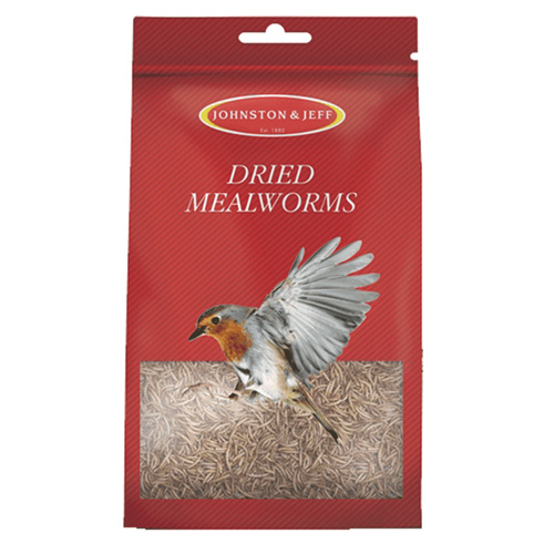 Johnson and Jeff Wild Bird Dried Mealworms - 500g