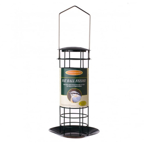 Johnston & Jeff Fat Ball Feeder, 20cm, Green Metal