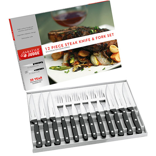Judge Sabatier Steak Knife and Fork Set, 12 Piece