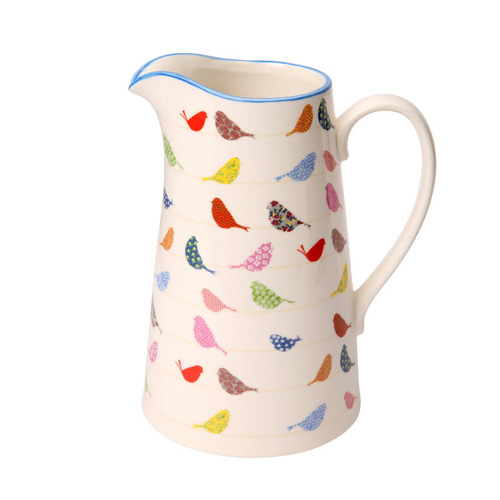 Dexam Porcelain Jug - Little Birds 18cm 1.1 Litre