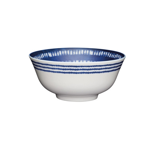 KitchenCraft Blue and White Greek Style Ceramic Bowl