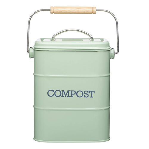 KitchenCraft Living Nostalgia Compost Bin - Green
