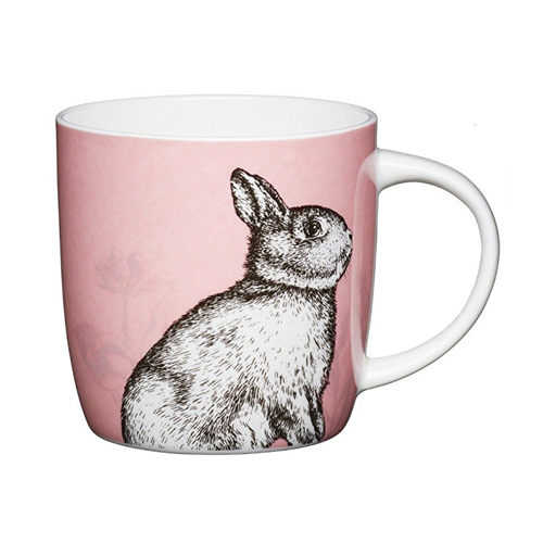 Bone China Barrel Mug Rabbit