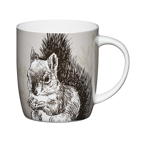 Bone China Barrel Mug Squirrel