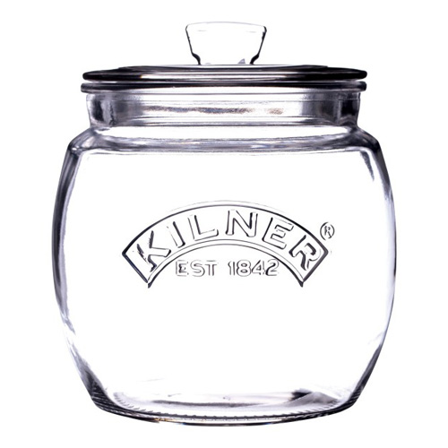 Kilner Glass Storage Jar with Push Top - 0.85 Litre