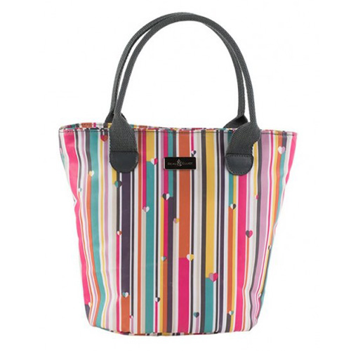 Beau and Elliot Insulated Lunch Bag- Linear Lunch Tote - Click Image to Close