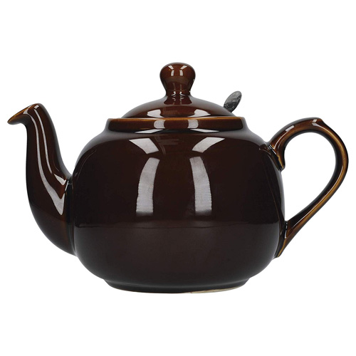 London Pottery 2 Cup Farmhouse Filter Teapot - Rockingham Brown