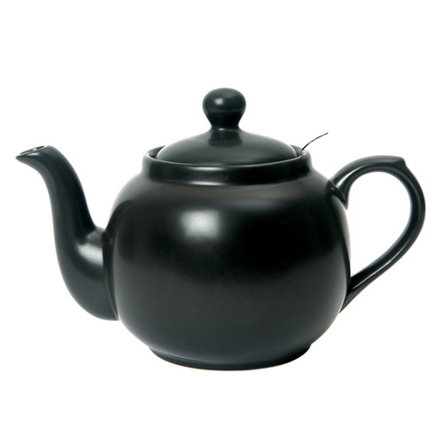 London Pottery 4 Cup Farmhouse Teapot with Filter - Matt Black