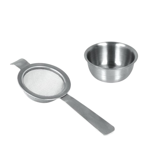 Metaltex Tea Strainer with Tray - Stainless Steel