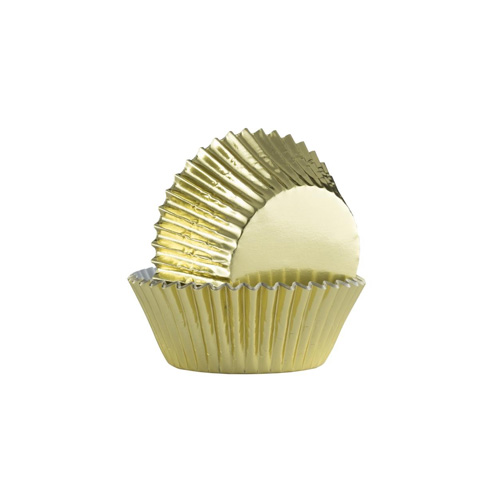 Mason Cash Mini Baking Cases - Pack of 40 Gold