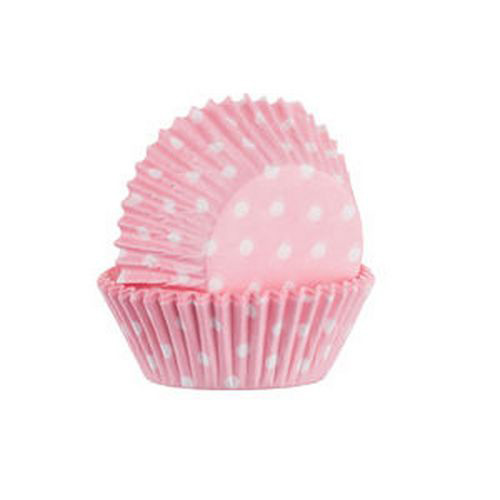 Mason Cash Mini Baking Cases - Pack of 60 Pink Polka Dots